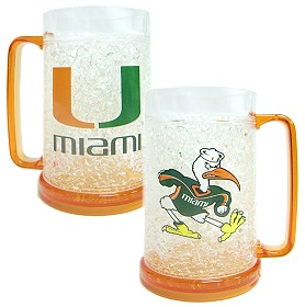 Miami Hurricanes Crystal Freezer Mug