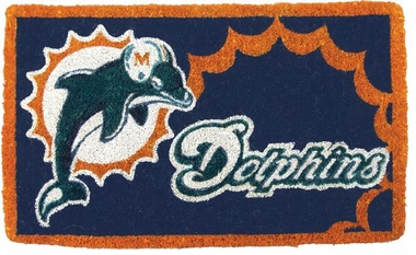 Miami Dolphins 18x30 Bleached Welcome Mat