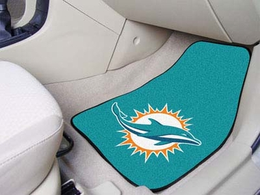 Miami Dolphins 2 Piece Car Mats