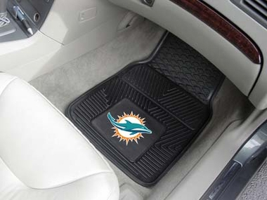 Miami Dolphins 2 Piece Heavy Duty Vinyl Car Mats