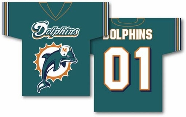 Miami Dolphins 2 Sided Jersey Banner Flag (F)