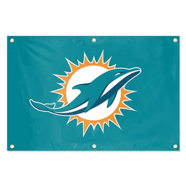 Miami Dolphins 2 x 3 Horizontal Applique Fan Banner