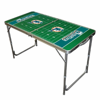 Miami Dolphins 2 x 4 Foot Tailgate Table