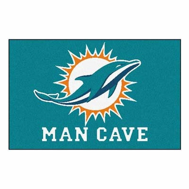 Miami Dolphins 20 x 30 Man Cave Rug