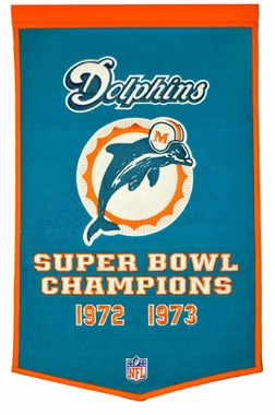 "Miami Dolphins 24""x36"" Dynasty Wool Banner"