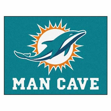 Miami Dolphins 34 x 45 Man Cave Rug