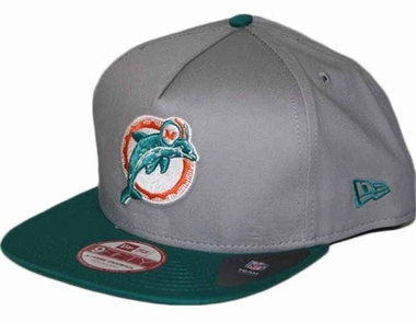 Miami Dolphins 9FIFTY Throwback A-Tone Snapback Hat
