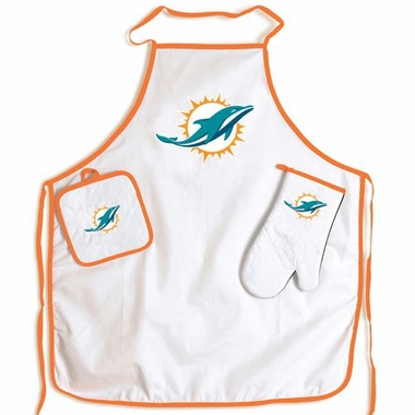 Miami Dolphins Apron and Mitt Set
