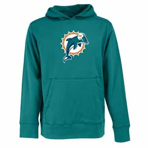 Miami Dolphins Big Logo Mens Signature Hooded Sweatshirt (Alternate Color: Teal) - XXX-Large