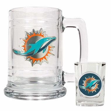 Miami Dolphins Boilermaker Set