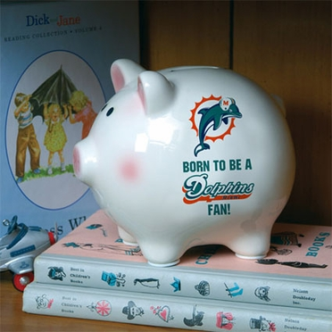 Miami Dolphins (Born to Be) Piggy Bank