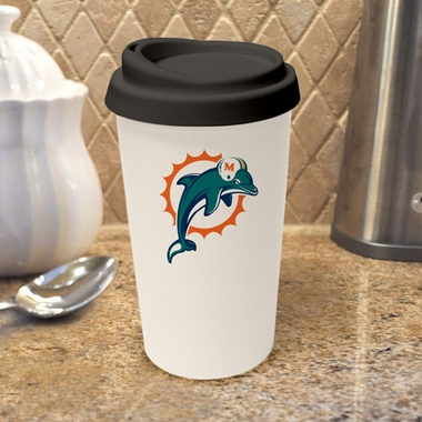 Miami Dolphins Ceramic Travel Cup