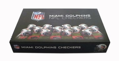 Miami Dolphins Checkers Set