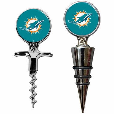 Miami Dolphins Corkscrew and Stopper Gift Set