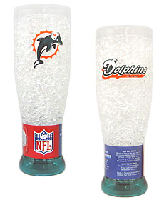 Miami Dolphins Crystal Pilsner Glass