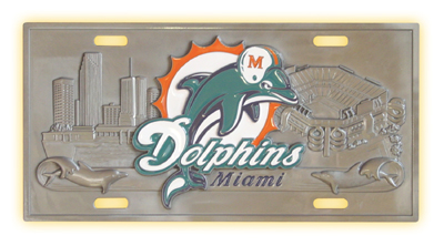 Miami Dolphins Deluxe Collector's License Plate