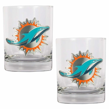 Miami Dolphins Double Rocks Set
