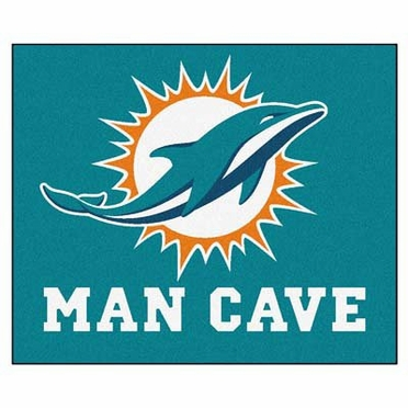 Miami Dolphins Economy 5 Foot x 6 Foot Man Cave Mat