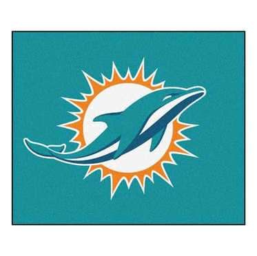 Miami Dolphins Economy 5 Foot x 6 Foot Mat
