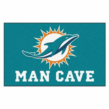 Miami Dolphins Economy 5 Foot x 8 Foot Man Cave Mat