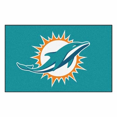 Miami Dolphins Economy 5 Foot x 8 Foot Mat