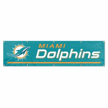 Miami Dolphins Eight Foot Banner
