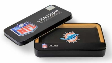 Miami Dolphins Embroidered Leather Checkbook Cover
