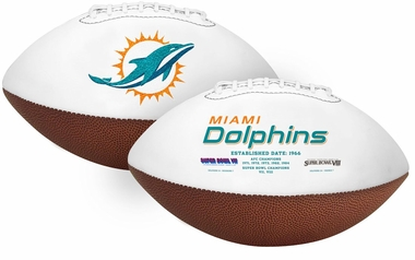 Miami Dolphins Embroidered Signature Series Football