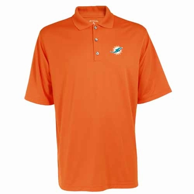 Miami Dolphins Mens Exceed Polo (Team Color: Orange)