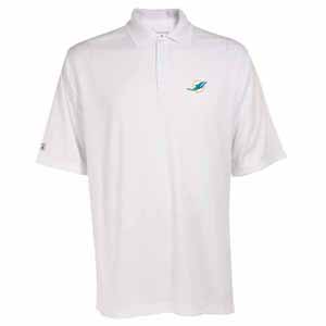 Miami Dolphins Mens Exceed Polo (Color: White) - XX-Large