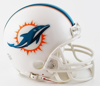 Miami Dolphins Football Helmet - Mini Replica