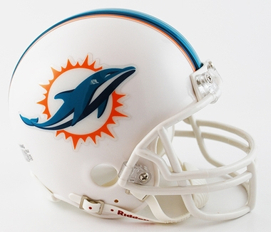 Miami Dolphins Replica Mini Helmet w/ Z2B Face Mask