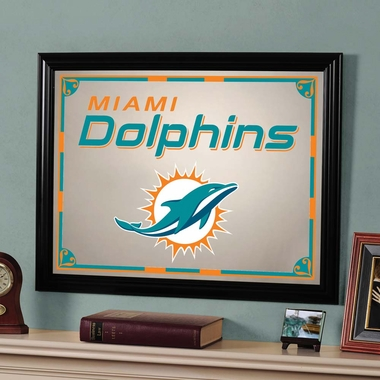Miami Dolphins Framed Mirror
