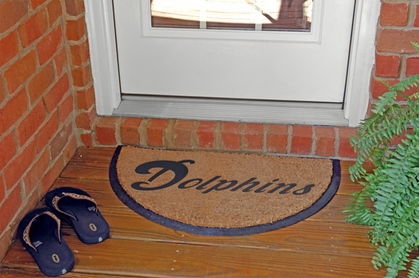 Miami Dolphins Half Moon Door Mat