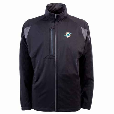 Miami Dolphins Mens Highland Water Resistant Jacket (Team Color: Black)