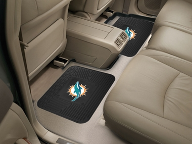 Miami Dolphins SET OF 2 Heavy Duty Vinyl Rear Car Mats