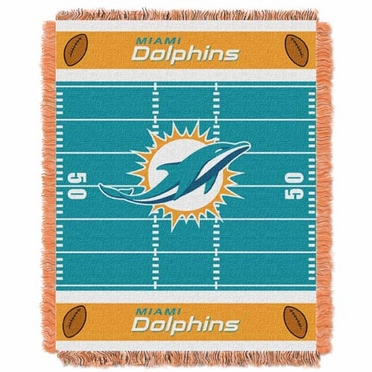 Miami Dolphins Jacquard BABY Throw Blanket
