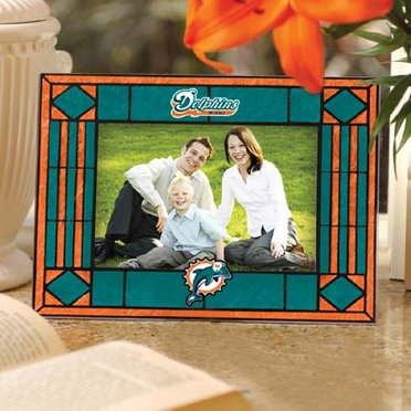 Miami Dolphins Landscape Art Glass Picture Frame