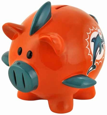 Miami Dolphins Large Thematic Piggy Bank