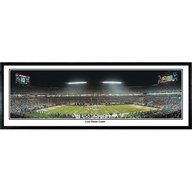 Miami Dolphins Last Home Game Framed Panoramic Print