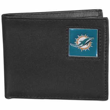 Miami Dolphins Leather Bifold Wallet (F)