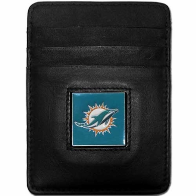 Miami Dolphins Leather Money Clip (F)