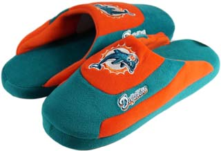 Miami Dolphins Low Pro Scuff Slippers - Large