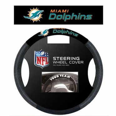 Miami Dolphins Mesh Steering Wheel Cover