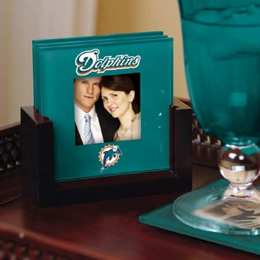 Miami Dolphins Photo Coaster Set