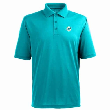 Miami Dolphins Mens Pique Xtra Lite Polo Shirt (Color: Aqua)