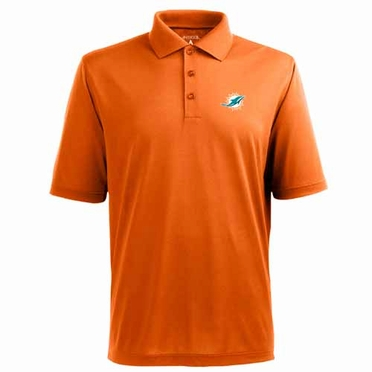 Miami Dolphins Mens Pique Xtra Lite Polo Shirt (Team Color: Orange)