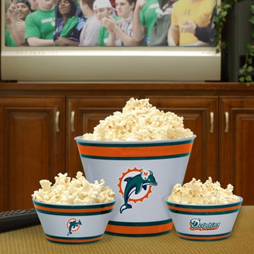 Miami Dolphins Plastic Serving Set
