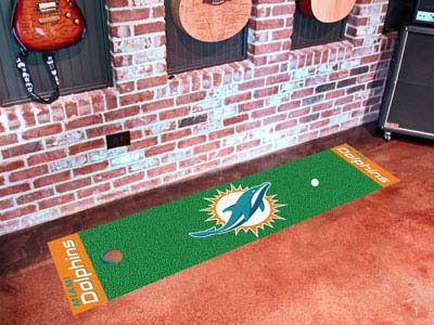 Miami Dolphins Putting Green Mat