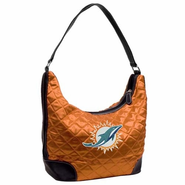 Miami Dolphins Quilted Hobo Purse